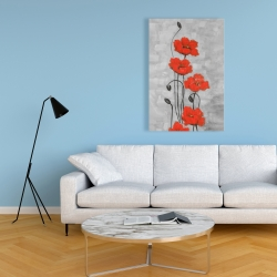 Canvas 24 x 36 - Big red flowers