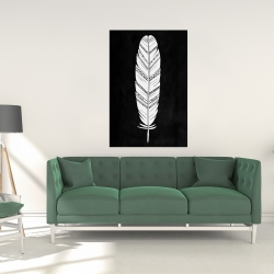 Canvas 24 x 36 - Feather with patterns