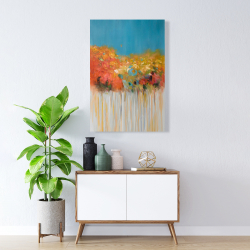 Canvas 24 x 36 - Colorful abstract small flowers