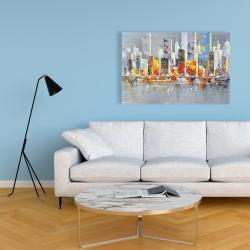Canvas 24 x 36 - Color splash cityscape
