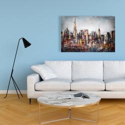 Canvas 24 x 36 - Dark cityscape