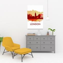 Toile 24 x 36 - Silhouette en éclats de peinture de londre
