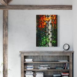 Canvas 24 x 36 - Bicolored leaf birch 1
