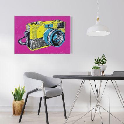 Colorful retro camera