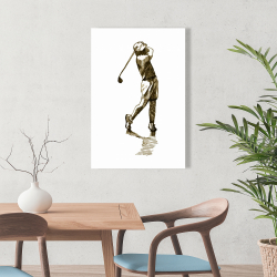 Canvas 24 x 36 - Illustration of a golfer