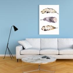 Toile 24 x 36 - Ensemble de plumes rayées horizontales