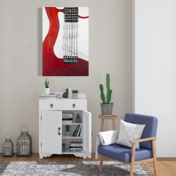 Canvas 24 x 36 - Red electric guitar