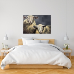 Canvas 24 x 36 - Two sheeps