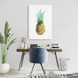 Canvas 24 x 36 - Watercolor pineapple