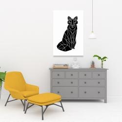 Canvas 24 x 36 - Geometric fox