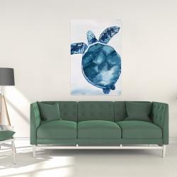 Canvas 24 x 36 - Watercolor blue turtle