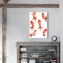 Canvas 24 x 36 - Small red fishes