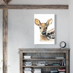 Canvas 24 x 36 - Watercolor fawn face
