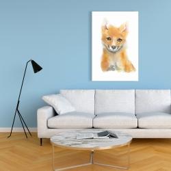 Canvas 24 x 36 - Watercolor baby fox
