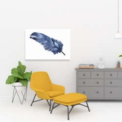 Canvas 24 x 36 - Blue feather