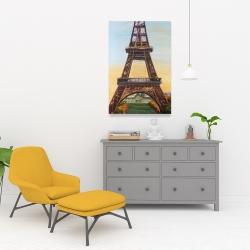 Canvas 24 x 36 - Eiffel tower by dawn