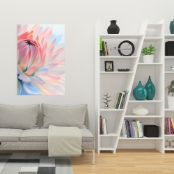 Canvas 24 x 36 - Lotus pastel flower