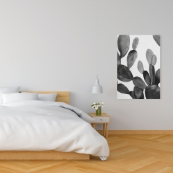 Canvas 24 x 36 - Grayscale cactus