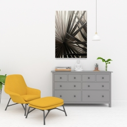 Canvas 24 x 36 - Grayscale tropical plants