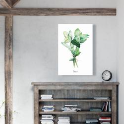 Canvas 24 x 36 - Tied up basil leaves bundle - en