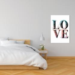 Toile 24 x 36 - Amour coloré
