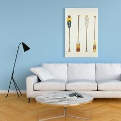 Canvas 24 x 36 - Canoe paddles