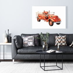 Canvas 24 x 36 - Vintage fire truck