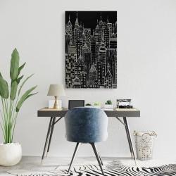 Canvas 24 x 36 - Illustrative city towers