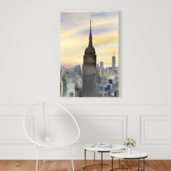 Canvas 24 x 36 - Sunset over new york city