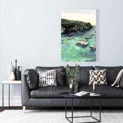 Canvas 24 x 36 - Boats in cala macarella