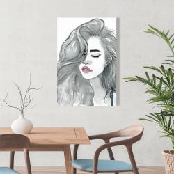 Canvas 24 x 36 - Beautiful female hair