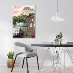 Canvas 24 x 36 - Château frontenac in the petit champlain