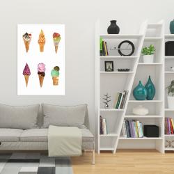 Canvas 24 x 36 - Ice cream cones