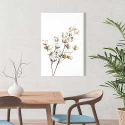 Canvas 24 x 36 - A branch of cotton flowers