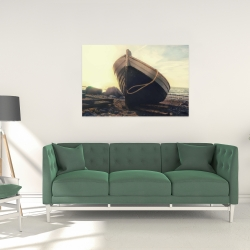 Canvas 24 x 36 - Rowboat at the water's edge