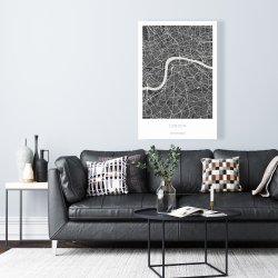 Canvas 24 x 36 - Graphic map of london