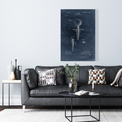 Canvas 24 x 36 - Blueprint of golf tee