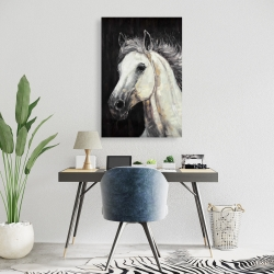 Canvas 24 x 36 - White star horse