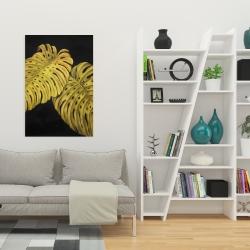 Toile 24 x 36 - Feuille monstera doré