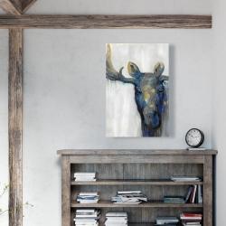 Canvas 24 x 36 - Blue moose