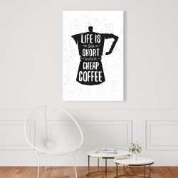 Canvas 24 x 36 - Life and coffee