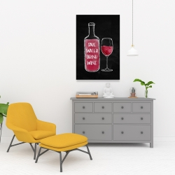 Canvas 24 x 36 - Save water drink wine
