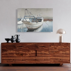 Canvas 24 x 36 - Fishing boat desatured