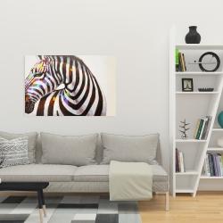 Canvas 24 x 36 - Colorful zebra