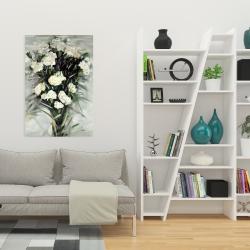 Canvas 24 x 36 - Lisianthus white bouquet