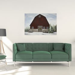 Canvas 24 x 36 - It's winter on the farm
