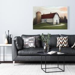 Canvas 24 x 36 - White barn