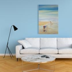 Canvas 24 x 36 - Children at the beach