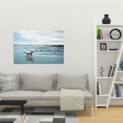 Canvas 24 x 36 - Dog on the beach