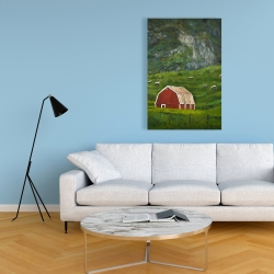 Canvas 24 x 36 - Life in the countryside